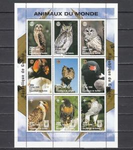 Guinea MNH S/S Birds Of Prey 1998 Large Size