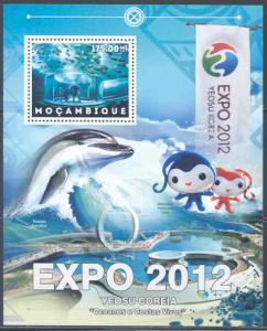 MOZAMBIQUE 2012 EXPO YEOSU KOREA LIVING OCEANS AND COASTLINES SOUVENIR SHEET