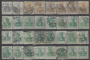 COLLECTION LOT OF #1185 GERMANY 32 GERMANIA STAMPS 1902+ CLEARANCE CV + $31