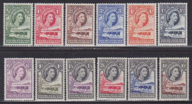 Bechuanaland Prot. Sc# 154-165 VF-MLH nice colors cv $ 100 ! see pic !