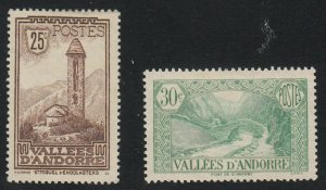 Andorra-French - 1932 - SC 30,32 - H