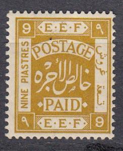 Palestine - 1918 9pi  Sc# 12 - MLN  (337N)