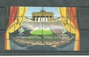 Serbia and Montenegro 2006 FIFA World Cup Germany block MNH
