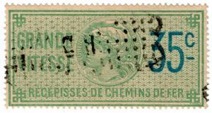 (I.B) France Revenue : Récépissés de Chemins de Fer 35c
