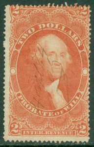 EDW1949SELL : USA 1862 Scott #R83c Used. Catalog $90.00.