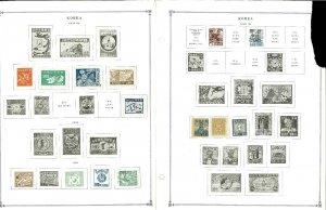 Korea (South) 1946-1973 M (mostly) & U Hinged on Scott International Pages