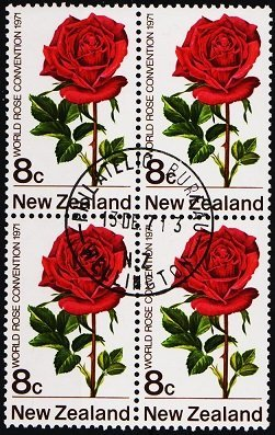New Zealand. 1971 8c (Block of 4) S.G.969 Fine Used