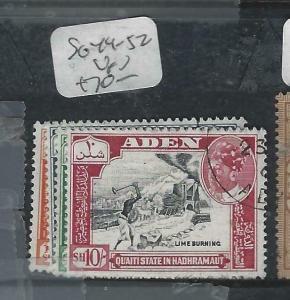 ADEN QU'AITI  (P1304B)  SET SG 49-52   VFU
