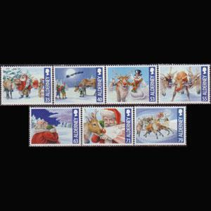 ALDERNEY 2013 - Scott# 477-83 Christmas Set of 7 NH