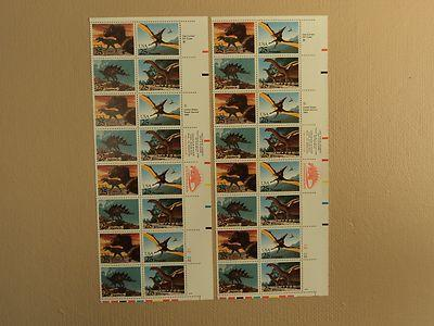 USPS Scott 2422-25 25c 1989 Prehistoric Animals Lot Of 2 ...