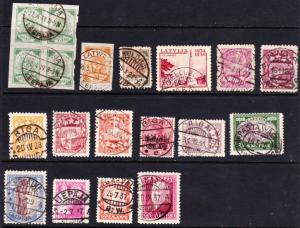 Latvia postmarks 1920s to 1940s