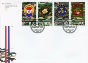 Croatia 2019 MNH War of Independence Guards Brigades 4v Cover Military Stamps