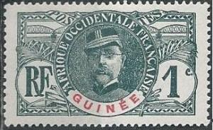 French Guinea 33 (mh) 1c Gen. Louis Faidherbé, gray & red (1906)