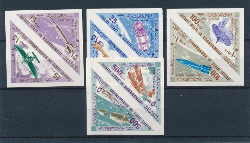 [60341] Aden Qu aiti State in Hadhramaut 1967 Space travel Triangles Imperf MNH