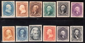#63P4 // #77P4 (12) DIFFERENT PLATE PROOFS ON CARD CV $1,185.00 WL5198