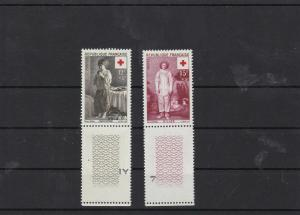 france 1956 red cross fund  mnh  stamps set   ref 7201