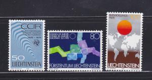 Liechtenstein 668-670 Set MH Various (B)