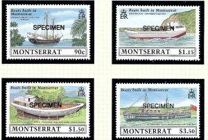 Montserrat 717-20 MNH 1989 Overprinted SPECIMEN     (KA)