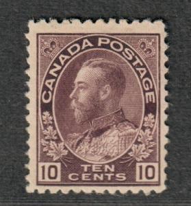 Canada Sc#116 M/NH/F-VF, Cv. $675