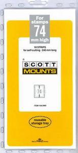 Prinz Scott Stamp Mount 74 / 240 mm BLACK Background Pack of 10