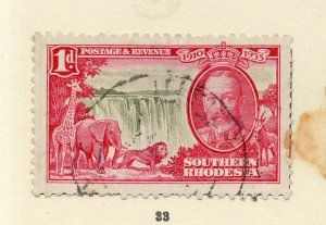 Southern Rhodesia 1930s Early Issue Fine Used 1d. NW-170469