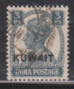 KUWAIT Scott # 59 Used - KGVI Stamp Of India With Overprint