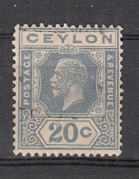 Ceylon SC# 237  1924 20c KGV used