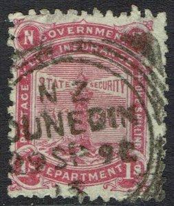 NEW ZEALAND 1891 LIGHTHOUSE 1/- USED