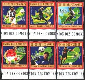 Comoro Islands. 2010. 2851-56. Football. MNH.