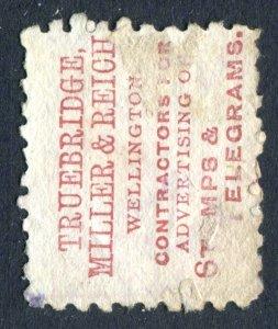 New Zealand 1882. Adson 1d stamp. Truebridge, Miller & Reich. Used. SG218.