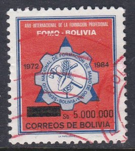 Bolivia #722 F-VF Used Education surcharge