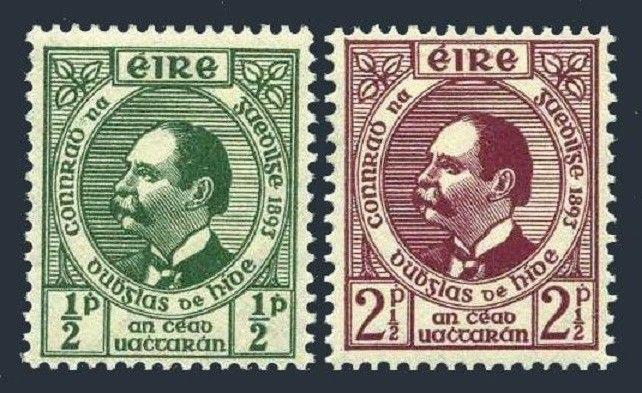 Ireland 124-125,MNH.Michel 89-90. Gaelic League,50,1943.Dr.Douglas Hyde.