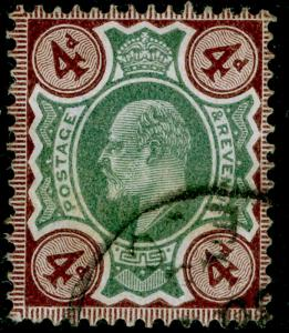 SG236 SPEC M23(3), 4d green & chocolate-brown, FINE USED. Cat £30.