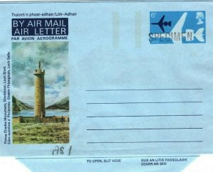 GB SCOTLAND 6p Air Letter *SPECIMEN* 1974 VC10 Aviation {samwells-covers}MA402
