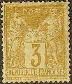 France - #89 -M-NG- 1878 - Peace - 3c - SCV-200.00
