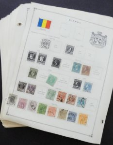 EDW1949SELL : ROMANIA Extensive Mint & Used collection on album pages 1930s-60s
