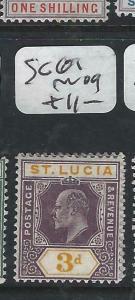 ST LUCIA  (P2705BB)  KE  3D   SG 61    MOG