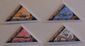 Kenya Uganda Tanganyika Stamp 320-3 MNH Airplane Topical Cat $9.35