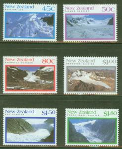 New Zealand Scott 1104-9 Glacier Stamp Set MH* CV$8