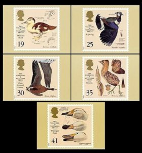 STAMP STATION PERTH G.B. PHQ Cards No.177- Set of 4-Wildfowl & Wetland Mint 1996