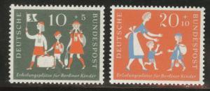 Germany Scott B354-355 MNH** 1957 stamp set