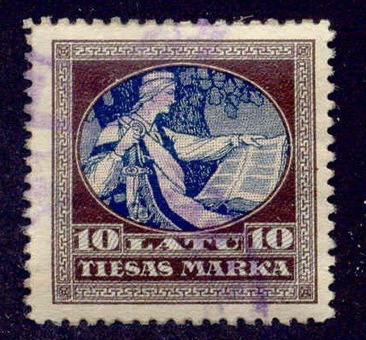 Latvia 1928 Court Fees Revenue Stamp