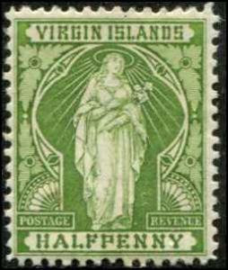 Virgin Islands SC# 21 SG# 43 St Ursala & Lillies MH