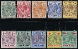 Grenada 1913 SC 79-88 Mint Set