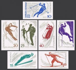 Romania C96-C102 imperf,MNH.Michel 1965-1971. Winter sport,1961.Slalom,Climbing,