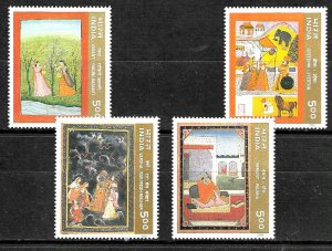 #7918 INDIA INDE 1996 ART PAINTING YV 1301B/E MNH
