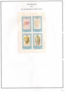 SCOTLAND - BERNERA - 1981 - Sea Shells - 4v Perf Sheet - MLH