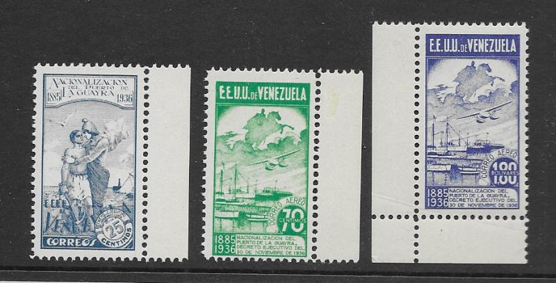 Venezuela 320,C64-5 Redrawn issue MNH vf, see desc. 2019 CV $120.00