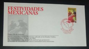 A) 1998, MEXICO, JOINT MEXICAN FESTIVITIES WITH THE UNITED STATES, FDC,  RED CIR