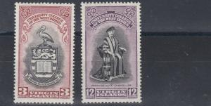 VIRGIN ISLANDS 1951  B W I UNIVERSITYS SET  MH